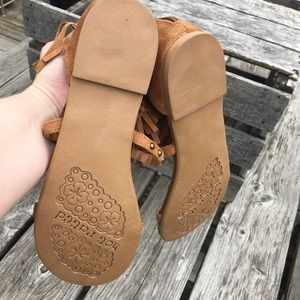 The Buckle Shoes - Boho Fringe Studded Suede Sandals! NEW!